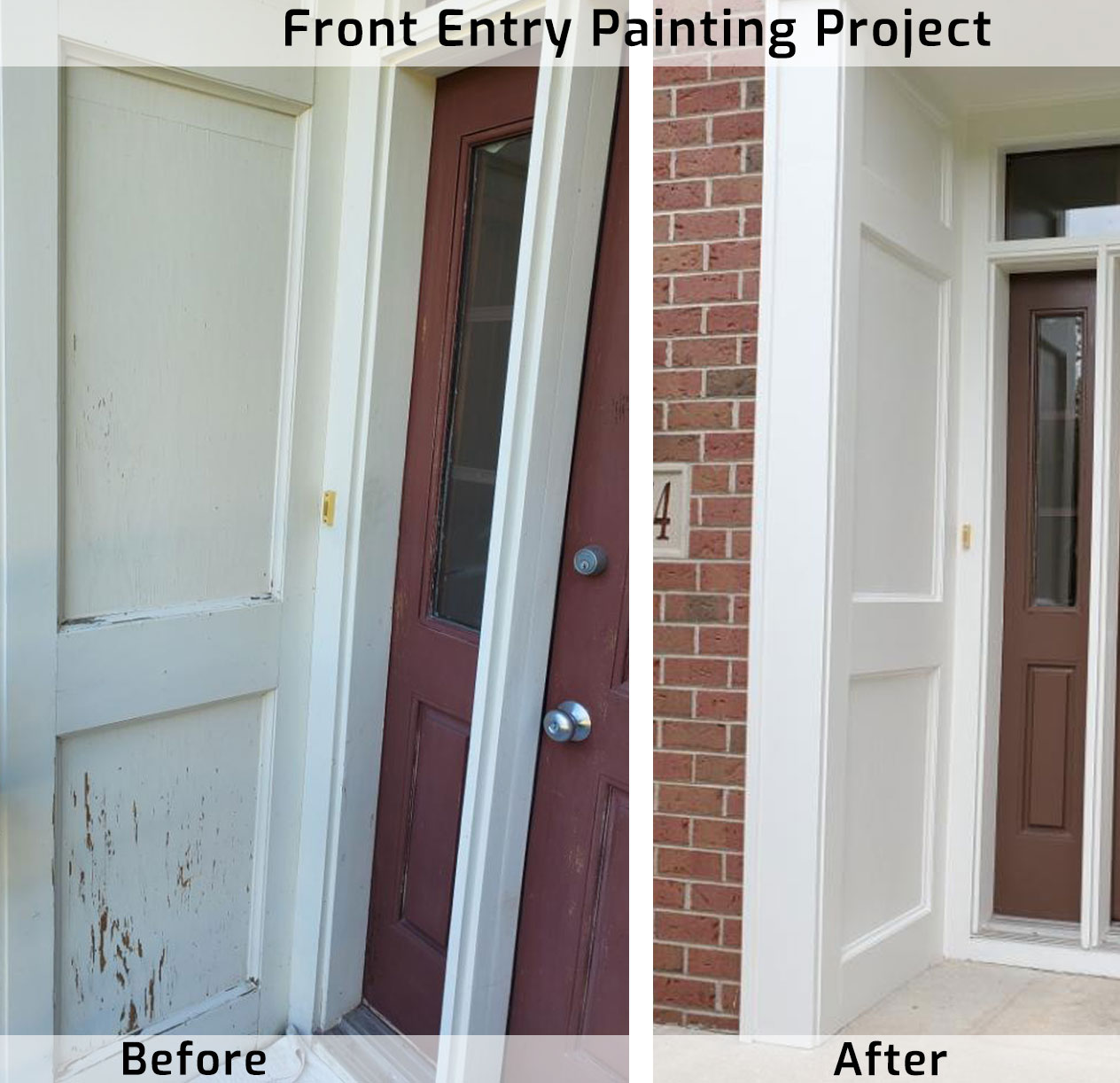 Painted Woodwork Front Entry from Green Bay Painter Amanda's Quality Painting