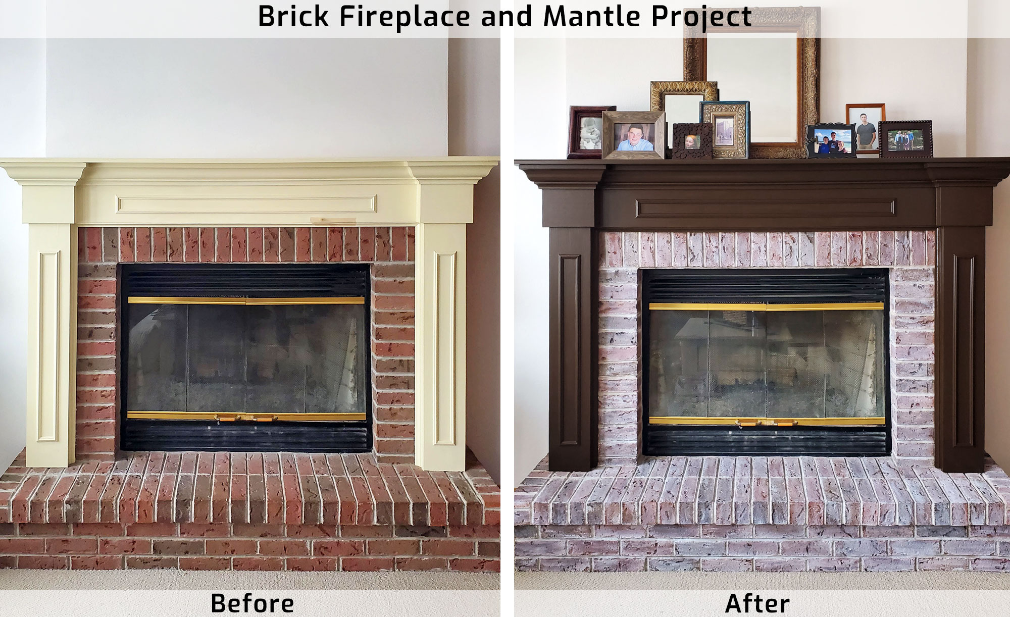 Painted Fireplace Mantle by Professional Painters in Green Bay, WI