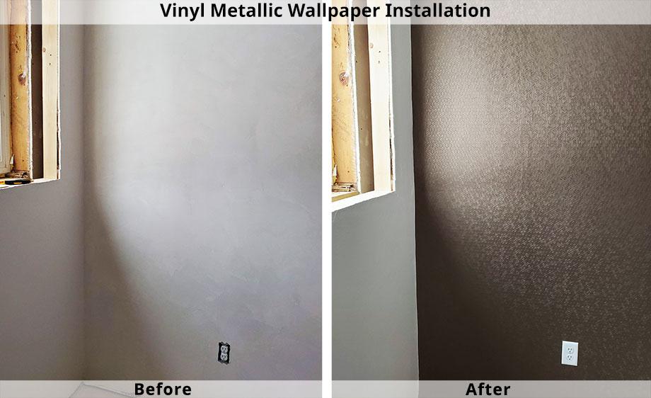 Professional Wallpaper Installation Vinyl Metallic in Green Bay, WI
